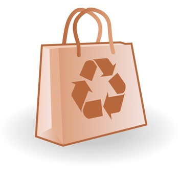 Free Vector Paper Bag with Recycle Logo - Kostenloses vector #202671