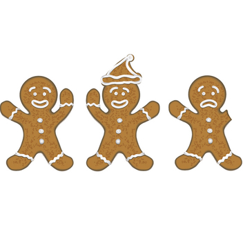 Free Vector Christmas Gingerbread Men - Free vector #202681