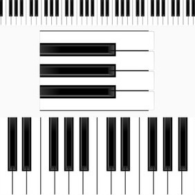 Piano Keyboard Illustration - vector gratuit #202821