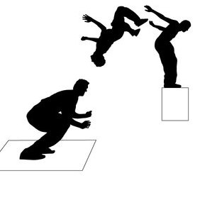 Parkour Jump - Free vector #202851