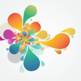Abstract Flower Vector Art - Free vector #202901
