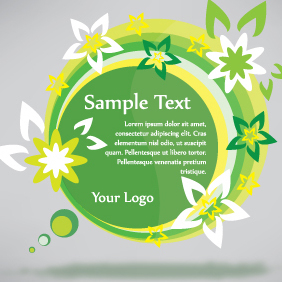 Green Eco Banner Sticker - vector #203121 gratis