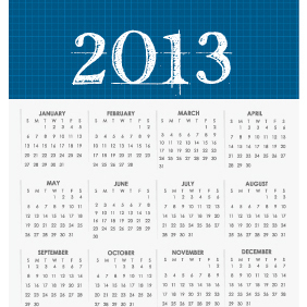 Vector Calendar For 2013 - Kostenloses vector #203181