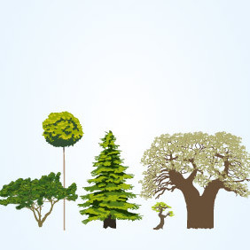 Vector Tree Collection - vector gratuit #203201
