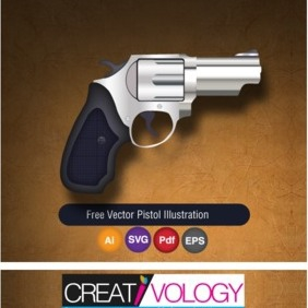 Free Vector Pistol Illustration - Free vector #203241