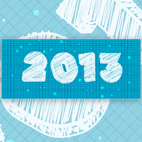 Happy New Year 2013 Illustration 3 - Kostenloses vector #203321
