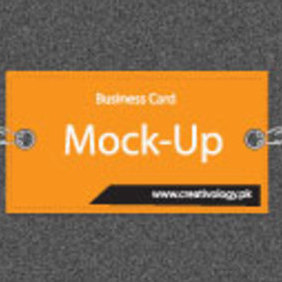 Free Vector Business Card Mockup - vector gratuit #203351