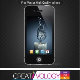 Free Vector High Quality Iphone - vector gratuit #203381