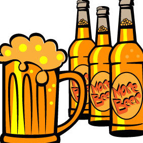 Cold Beer Bottles Vector - бесплатный vector #203591