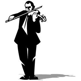 Violin Player Vector - Free vector #203601