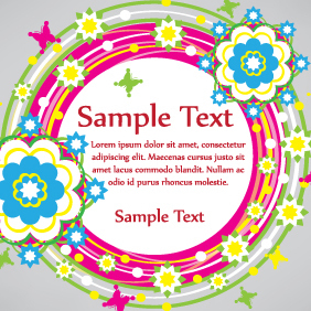 Colorful Circle Shape Banner - vector gratuit #203631