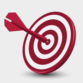 Free Vector Of The Day #137: Dart Target - Free vector #203711