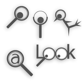 Magnifying Glass Logos - vector gratuit #203951