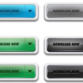 Vector Download Buttons - vector gratuit #203991