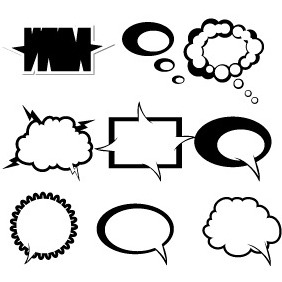 Abstract Chat Bubbles 1 - vector gratuit #204051