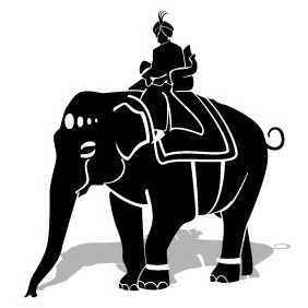 Maharaja Riding An Elephant Vector - Free vector #204091
