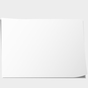 Free Vector Of The Day #66: Blank Paper Sheet - Kostenloses vector #204281