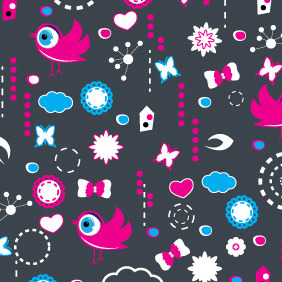 Sweet Background With Elements - Kostenloses vector #204311