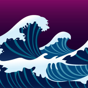 Waves And Foam - vector gratuit #204331
