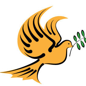 Dove With Olive Branch - Free vector #204451