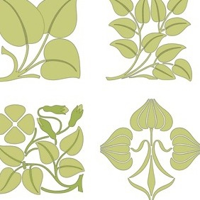 Floral Brushwork Designs - vector gratuit #204561