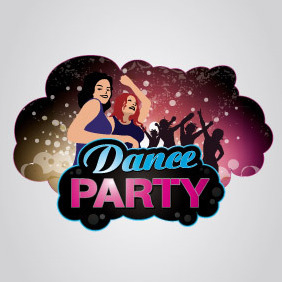 Dance Party Logo - vector gratuit #204571