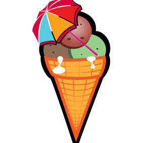 Ice Cream Vector Image - Free vector #204831