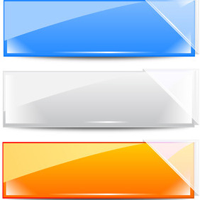 Vector Banner With Glass - Free vector #204841
