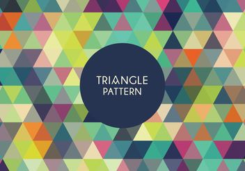 Geometric Triangle Pattern - vector gratuit #205131