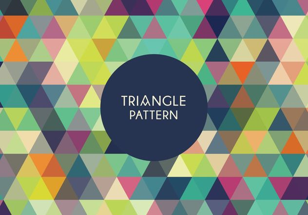 Geometric Triangle Pattern - Free vector #205131