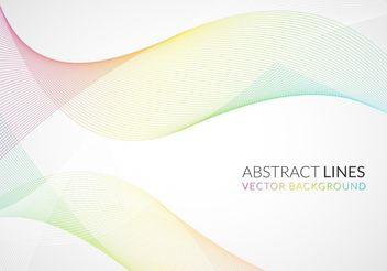 Pastel Color Wave Background - vector gratuit #205141