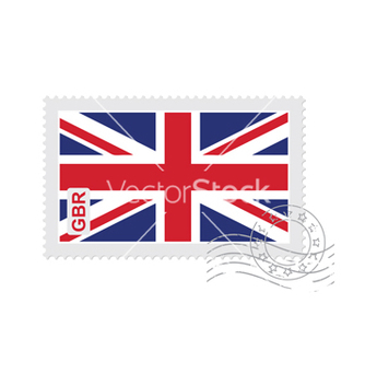 Free britain flag old postage stamp vector - Free vector #205271