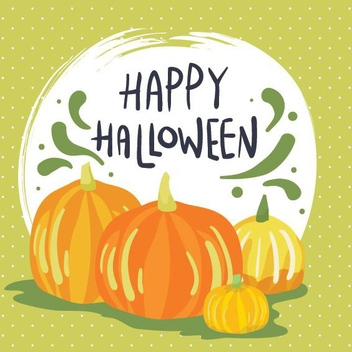 Happy Halloween Card - vector gratuit #205301