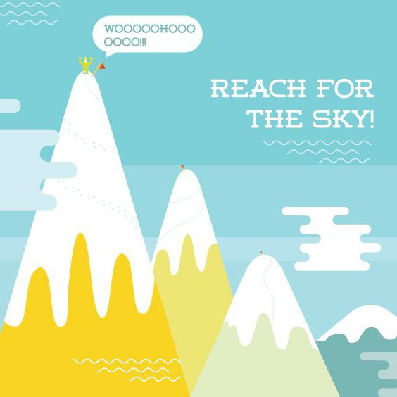 Reach For The Sky - Free vector #205361