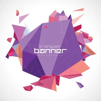 Triangular Banner - vector gratuit #205491