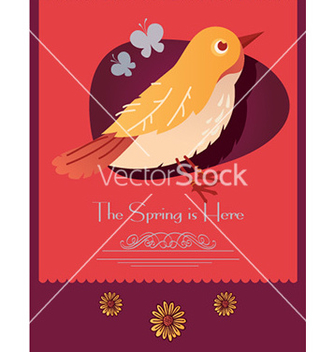 Free cartoon bird design vector - vector gratuit #205551