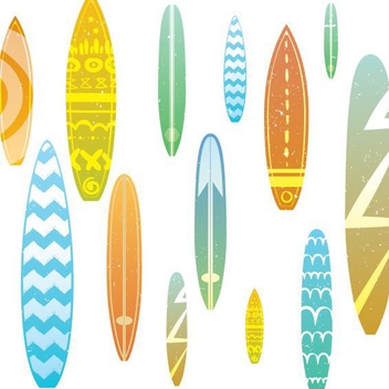 Surfboard Seamless Pattern - vector gratuit #205571