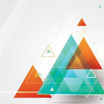 Blending Triangle Shapes - vector gratuit #205621