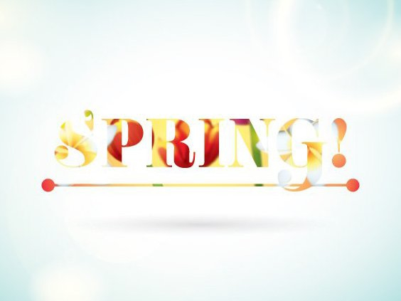 Colorful Spring Typography - Free vector #205661