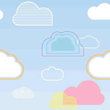 Seamless Cloud Pattern - Free vector #205691