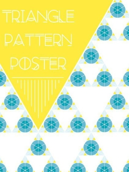 Triangle Pattern Poster - Free vector #205711