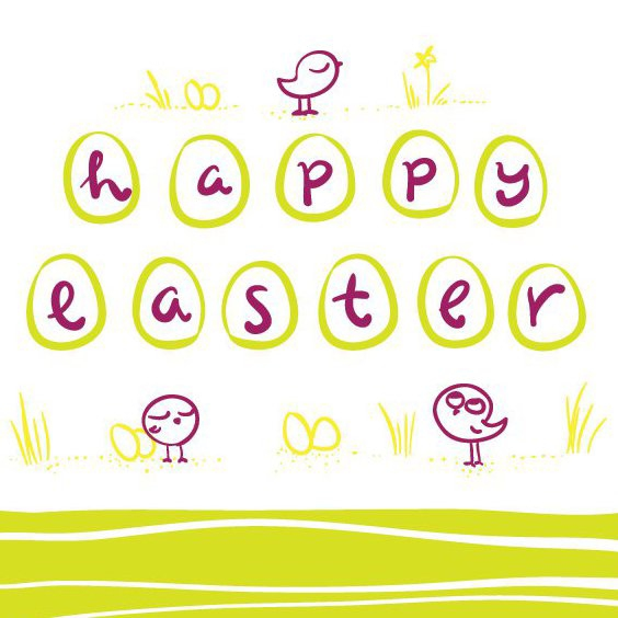 Happy Easter Greeting Card - Free vector #205721