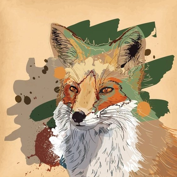Brown Fox - vector gratuit #205851