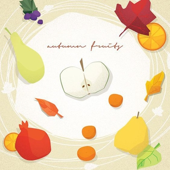 Autumn Fruits - vector gratuit #206051