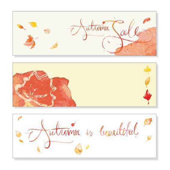 Autumn Banners - Free vector #206091