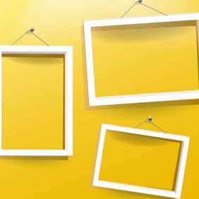 Three White Frames - Free vector #206171