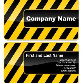 Card In Style Of Danger - vector gratuit #206181