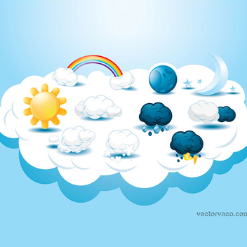 Free Vector Weather Icons - Free vector #206231