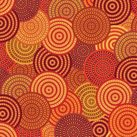 Orange Circle Pattern - Free vector #206251