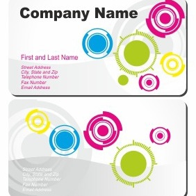 Circle Design Background Business Card - vector gratuit #206301
